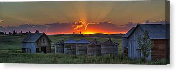 Home Town Sunset Panorama Canvas Print by Mark Kiver
