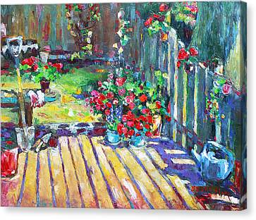 Home Where True Beauty Is Planted Canvas Print by Becky Kim
