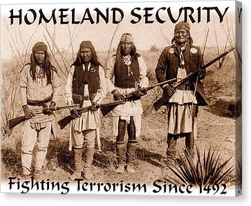 Homeland Security - 1886 Canvas Print by Pg Reproductions
