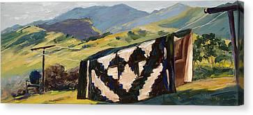 Homespun Canvas Print by Mary Giacomini