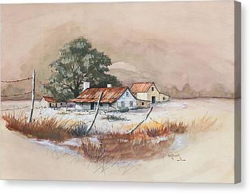 Homestead Canvas Print by Bob Hallmark