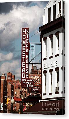 Homestead Steakhouse Canvas Print by John Rizzuto