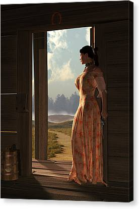 Homestead Woman Canvas Print by Daniel Eskridge
