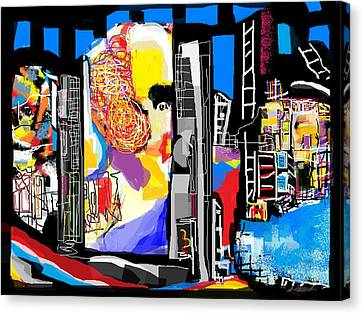 Hometown Abstract Canvas Print by Ruth Clotworthy