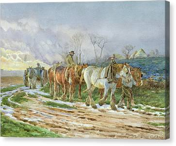 Homeward Bound Canvas Print by Charles James Adams