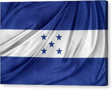 Honduras Flag Canvas Print by Les Cunliffe