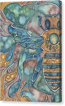 Honey Bee Canvas Print by Tamara Phillips