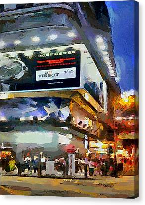 Hong Kong Night Lights 1 Canvas Print by Yury Malkov