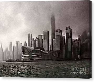 Hong Kong Rain 5 Canvas Print by Tom Prendergast