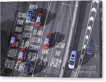 Hong Kong Taxi Canvas Print by Lars Ruecker