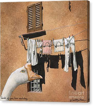 Honk If You Love Wash Day... Canvas Print by Will Bullas
