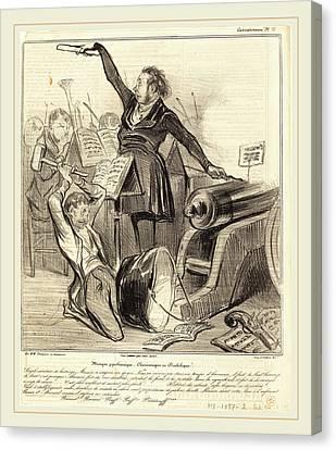 Honoré Daumier French, 1808-1879, Musique Pyrothecnique Canvas Print by Litz Collection