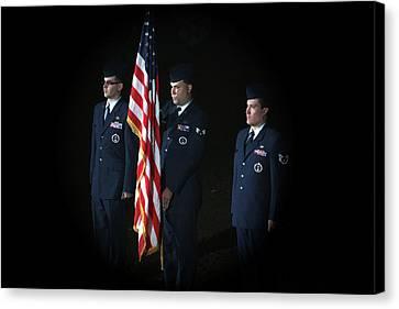 Honor Guard Canvas Print by Karol Livote