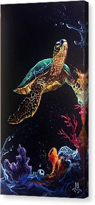 Honu's Reef Canvas Print by Marco Antonio Aguilar