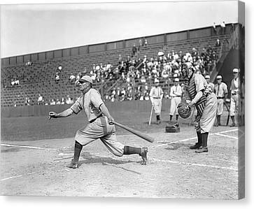 Honus Wagner Swings Hard Canvas Print by Retro Images Archive
