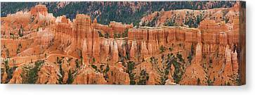 Hoodoo Rock Formations In A Canyon Canvas Print by Panoramic Images