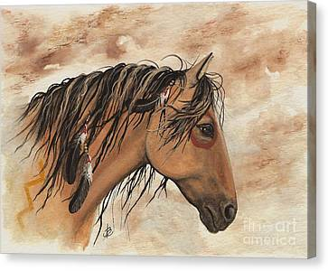 Hopa - Majestic Mustang Series Canvas Print by AmyLyn Bihrle