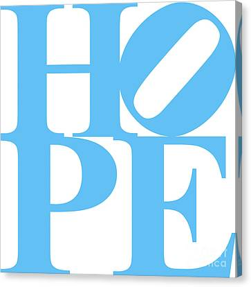 Hope 20130710 Blue White Canvas Print by Wingsdomain Art and Photography