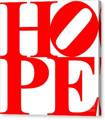 Hope 20130710 Red White Canvas Print by Wingsdomain Art and Photography