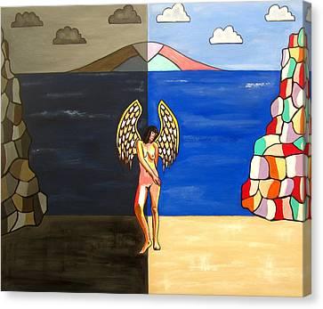 Hope And Despair Canvas Print by Sandra Marie Adams