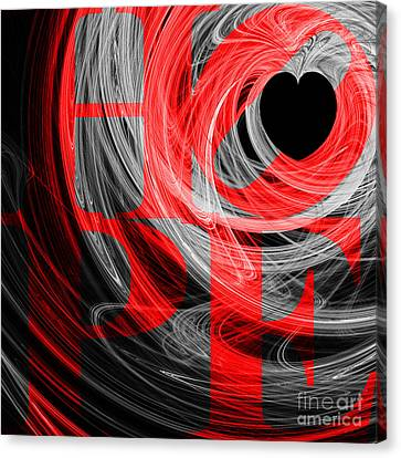 Hope Fractal Heart 20130710 V2b Canvas Print by Wingsdomain Art and Photography