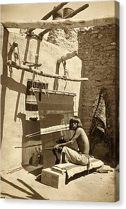Hopi Blanket Maker, C. 1899 Canvas Print by Getty Research Institute