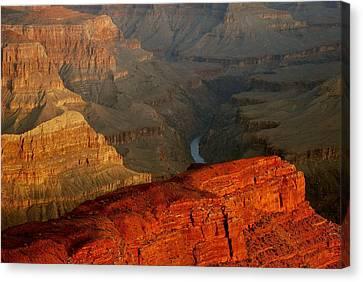 Hopi Point Sunrise Canvas Print by Stephen  Vecchiotti