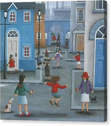 Hopscotch Canvas Print by Peter Adderley
