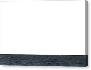Horizon White Canvas Print by Jeff Kauffman