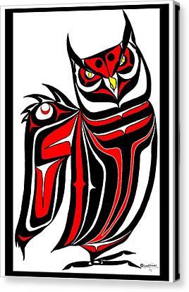 Hornd Owl Canvas Print by Speakthunder Berry