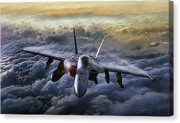 Hornet Sting Canvas Print by Peter Chilelli