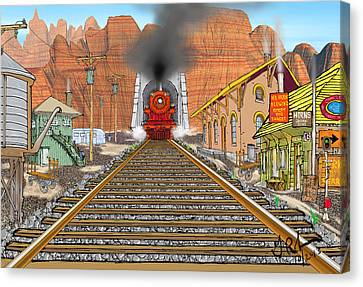 Horn's Junction Canvas Print by Gerry Robins
