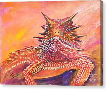 Horny Toad Canvas Print by Summer Celeste