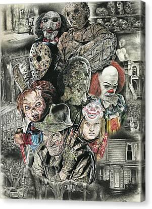 Horror Movie Murderers Canvas Print by Daniel  Ayala