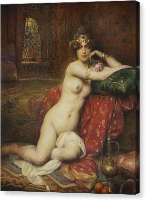 Hors Concours Femme D'orient Canvas Print by Henri Adrien Tanoux