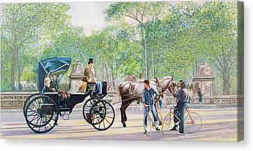 Horse And Carriage Canvas Print by Anthony Butera