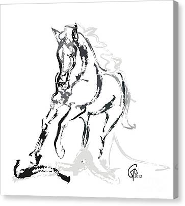 Horse- Andalusian Angel Canvas Print by Go Van Kampen