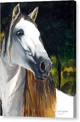horse - Angel Canvas Print by Go Van Kampen