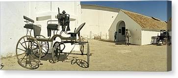 Horse Cart In Front Of A Hotel, Hotel Canvas Print by Panoramic Images