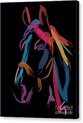 Horse-colour Me Beautiful Canvas Print by Go Van Kampen