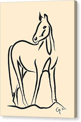 Horse - Grace Canvas Print by Go Van Kampen