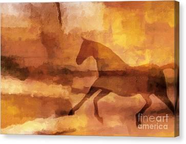Horse Image Canvas Print by Lutz Baar