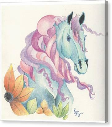 Horse Of A Different Colour Canvas Print by Kirsten Slaney