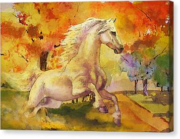 Horse Paintings 003 Canvas Print by Catf