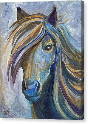 Horse Portrait 102 Canvas Print by Linda Mears