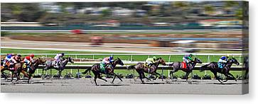 Horse Racing Canvas Print by Christine Till
