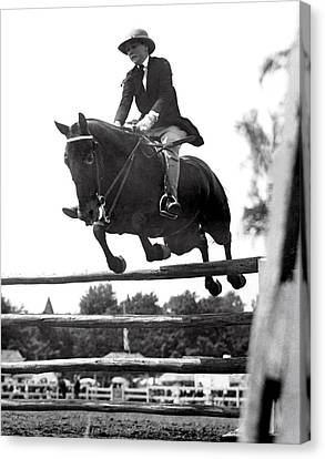 Horse Show Jump Canvas Print by Underwood Archives