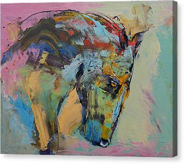 Horse Study Canvas Print by Michael Creese