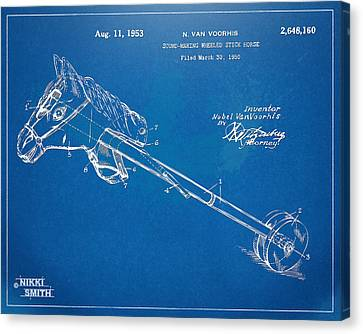Horse Toy Patent Artwork 1953 Canvas Print by Nikki Marie Smith