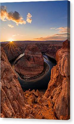 Colorado River Canvas Print featuring the photograph Horseshoe Bend by Chad Dutson